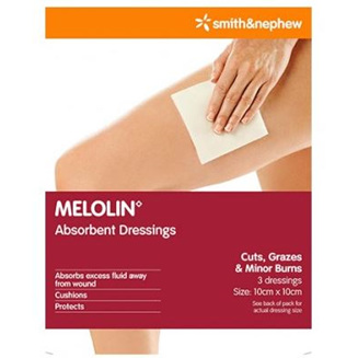 MELOLIN DRESSING 10X10CM 3 PACK
