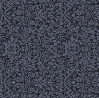 Memoire a Paris Floral Damask Navy 820817-3