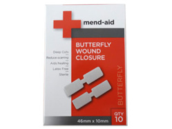 MEND-AID BUTTERFLY CLOSURES 10PK