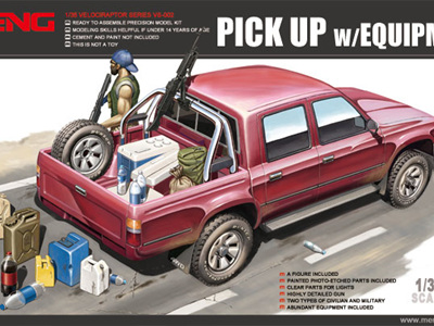 Meng 1/35 Pick Up with Equipment