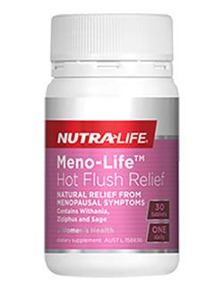 Meno-Life Hot Flush Relief  - 30 Tabs