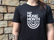 Mens Black NZ Music Month 2019 Tee