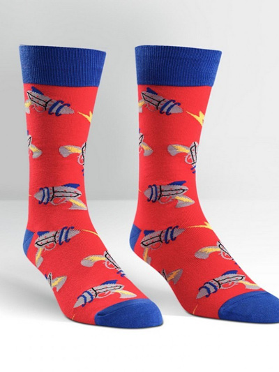 MENS CREW SOCKS-RAYGUNS