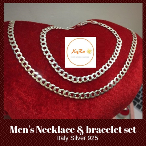 Men's Necklace and Bracelet Set
