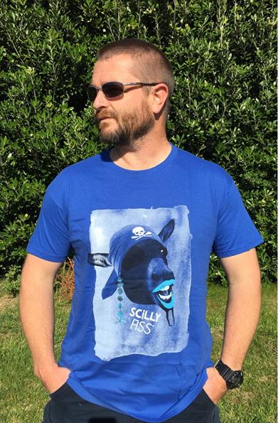Men's Scilly Ass Tee - Blue