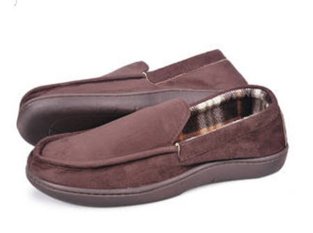 Mens Slippers Dk Brown XL (13-14)