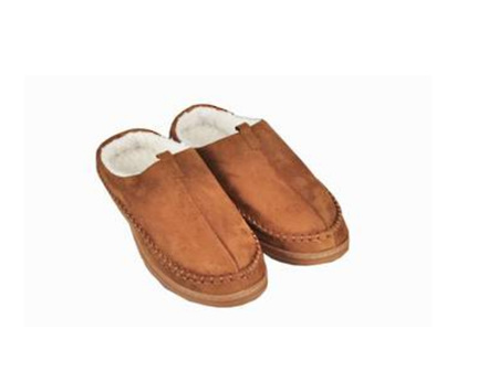 Mens Slippers Sherpa Med (9-10)