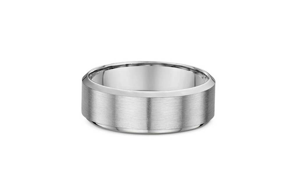 Bevelled Edge Mens Traditional Wedding Ring The Village
