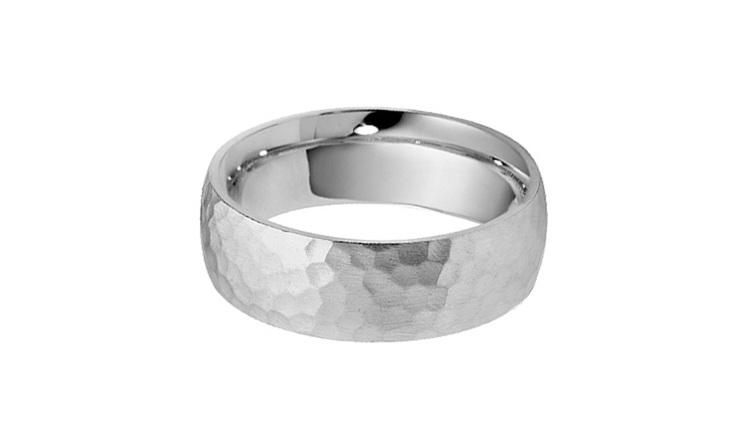Hammered finish mens wedding ring and wedding bands the village mens wedding ring platinum wedding ring white gold wedding ring junglespirit Gallery