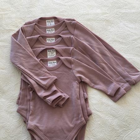 Merino Baby Onesie in Pink - Size 000