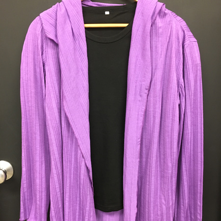 Merino Cardi - Purple