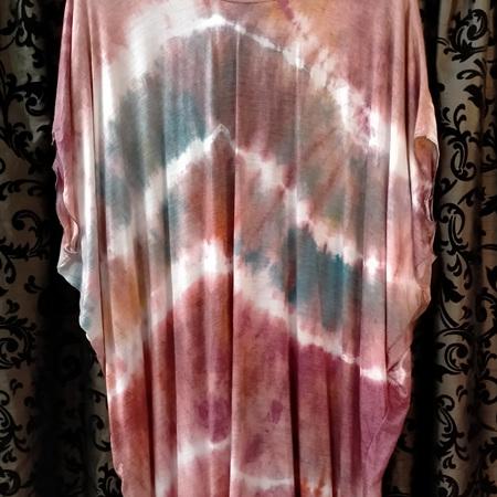Merino Diddy Dress - tie dyed