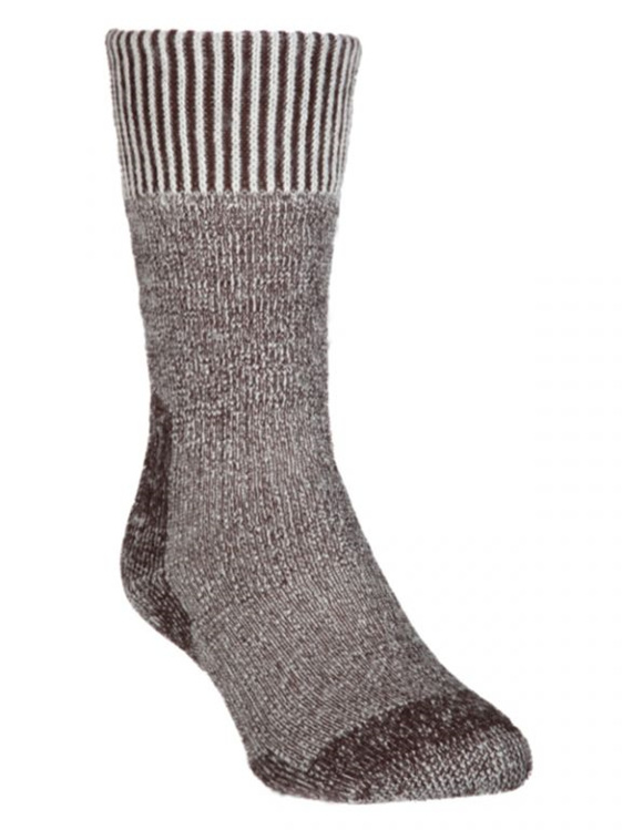 Merino gumboot sock, calf length, ankle and arch support prevents ride down