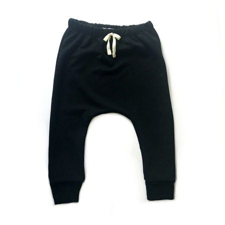Merino Harem Pants - Black