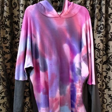 Merino Hoody - pinks and purples