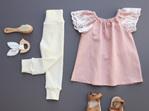 Merino Rib Baby Pants - Cream