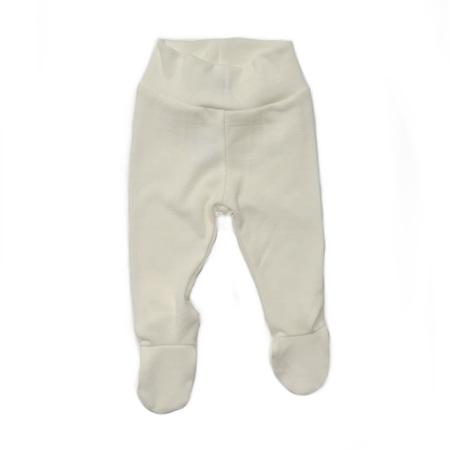 Merino Rib Footed Pants - Cream