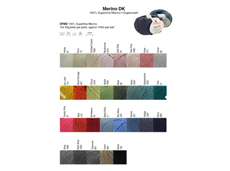 Merino Wool DK 100% 50gr (105m) Red