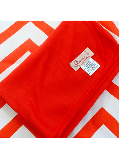 Merino Wrap - Orange