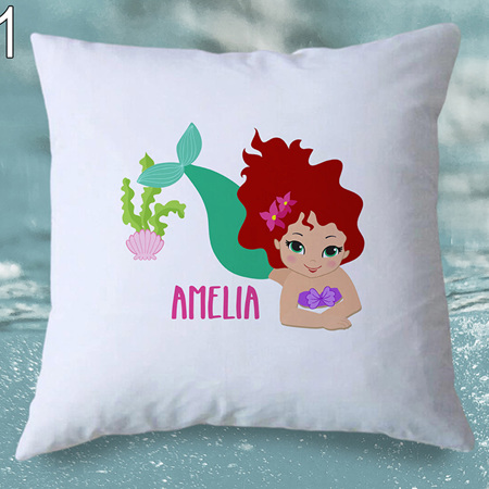 Mermaid 1  Personalised Cushion Cover