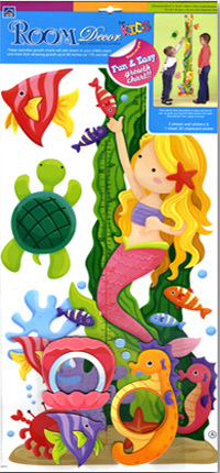 Mermaid Growth Chart Wall Decal