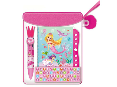 Mermaid Mini Secret Journal +Lock