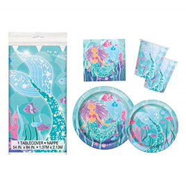 Mermaid party pack - for 8.