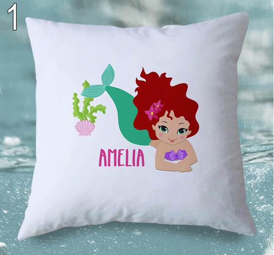 mermaid personalised cushion