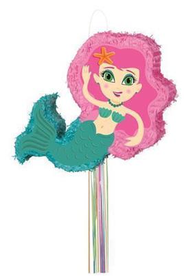 Mermaid pull pinata
