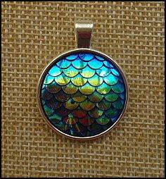 Mermaids Glass Dome Key Ring