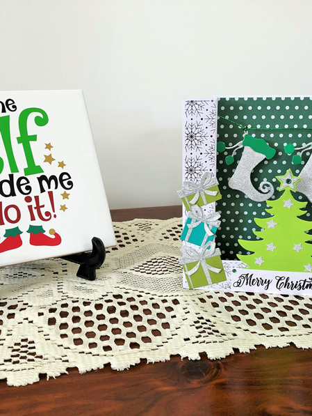 Merry Christmas Bridge Card