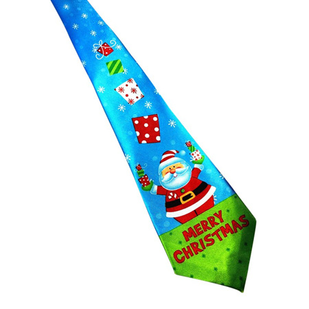 MERRY CHRISTMAS SANTA & PRESENTS CHRISTMAS NOLVETY TIE