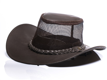 Mesh Leather Chocolate Brown