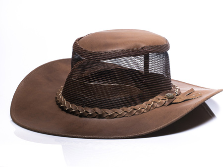 Mesh Leather Light Brown