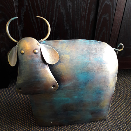 Metal Cow Painted Finish - $260