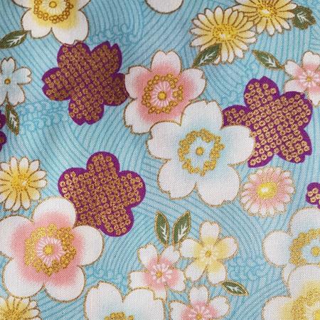 Metallic Flowers Blue 850288D3-2