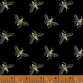 Metallic Precious Metal Nature Bees Black Gold 0663355