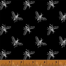 Metallic Precious Metal Nature Bees Black Silver 0663357