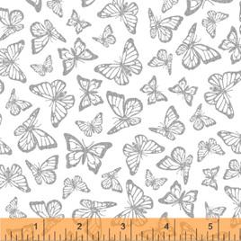 Metallic Precious Metal Nature Butterflies White Silver 0663354