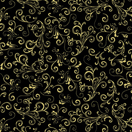 Metallic Scroll Black/Gold 771899