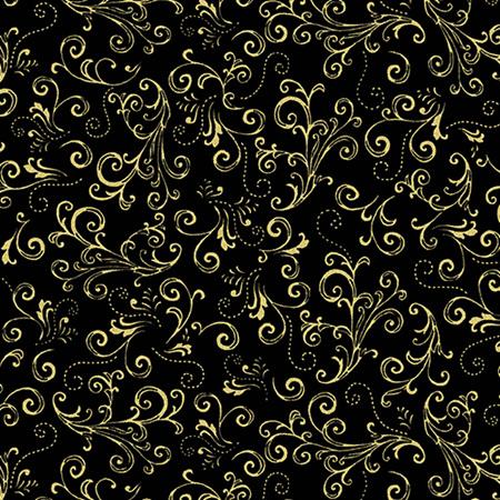 Metallic Scroll Black/Gold 771899