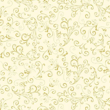 Metallic Scroll Cream/Gold 771807