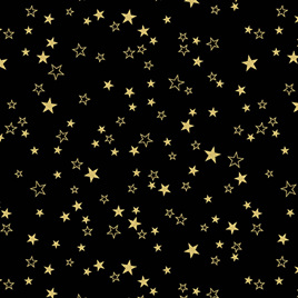 Metallic Stars Black/Gold 773099