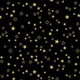 Metallic Stars Black/Gold 773099
