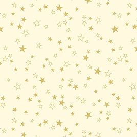 Metallic Stars Cream/Gold 773007