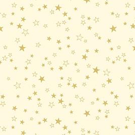 Metallic Stars Cream/Gold 773007