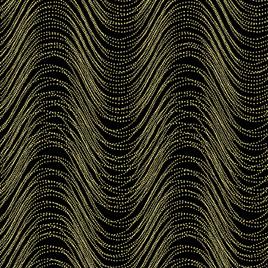 Metallic Wave Black/Gold 772199