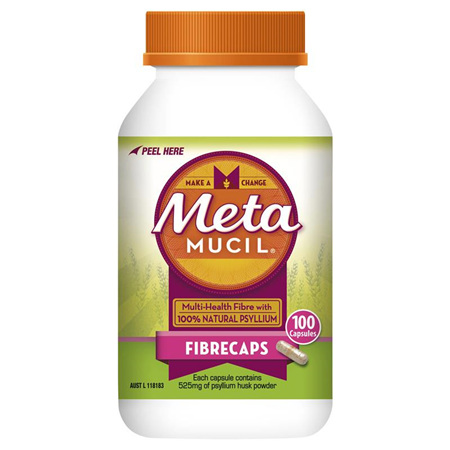 Metamucil Fibre Supplement 100 Capsules