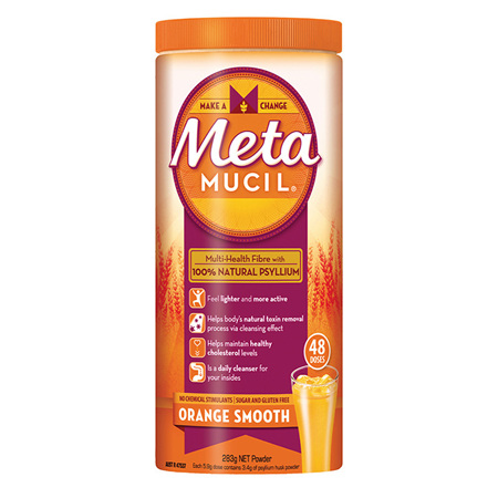 Metamucil Fibre Supplement Smooth Orange 42 Doses