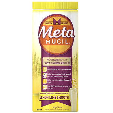 Metamucil Smooth Lemon/Lime 425G 72 Dose